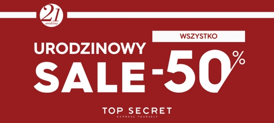 Top Secret | Urodzinowy sale do -50%